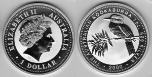 Australia 1oz 2000 kookaburra